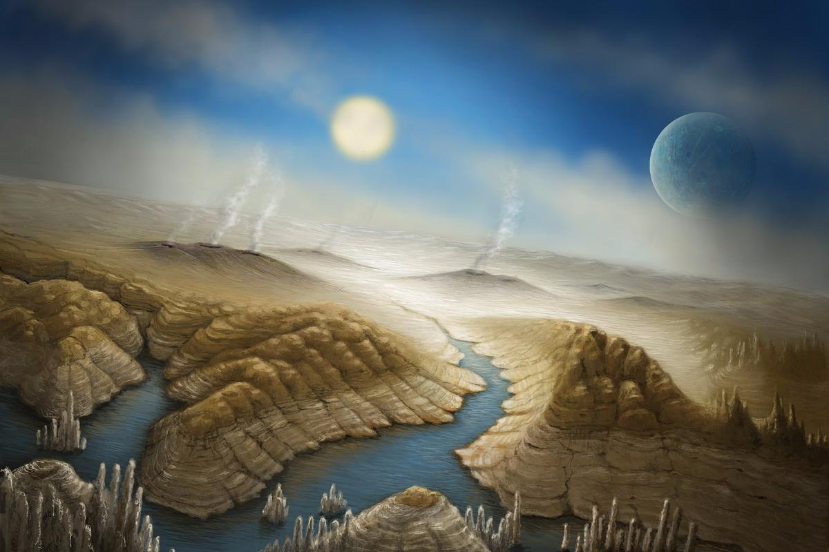 Kepler 452b illustration by Danielle Futselaar