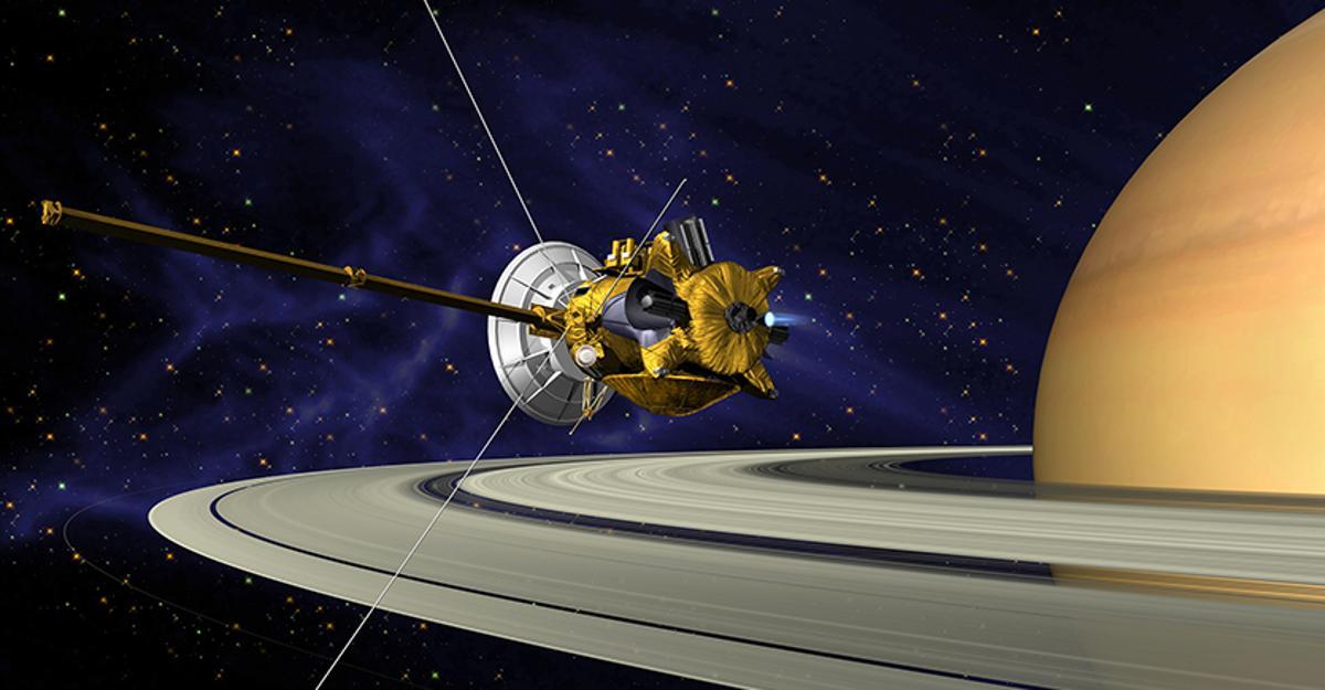 Artist's concept of the Cassini orbiter