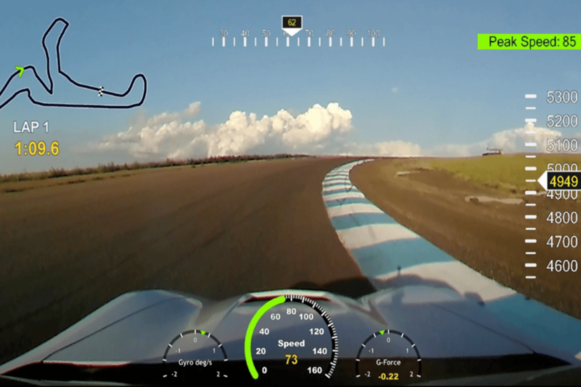 Easily add live speed, altitude and other overlays to action