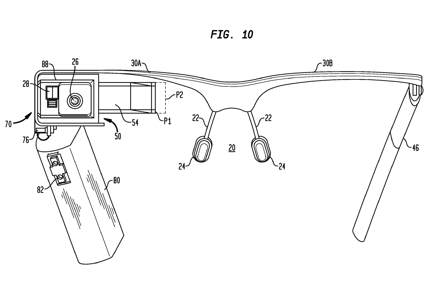 A new USPTO filing provides some details on the design of Google Glass