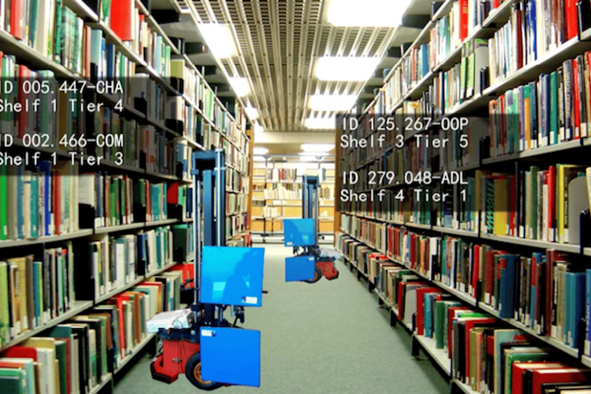 Researchers have designed an autonomous robotic librarian that scans RFID tags and can help locate misplaced books