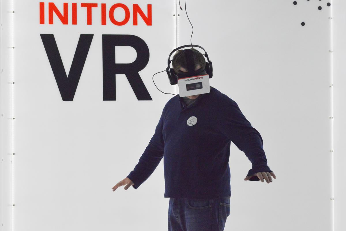 Inition's vertigo simulator is impressively overwhelming (Photo: Gizmag)