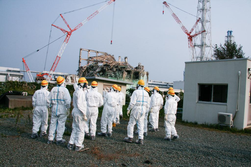 Experts from the International Atomic Energy Agency inspect the Fukushima Daiichi nuclear power plant in 2013