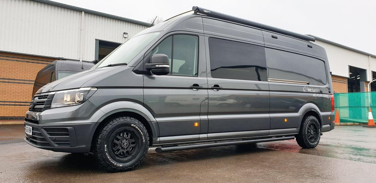 Mclaren turnsthe Volkswagen Crafter into a rugged, sporty camper van