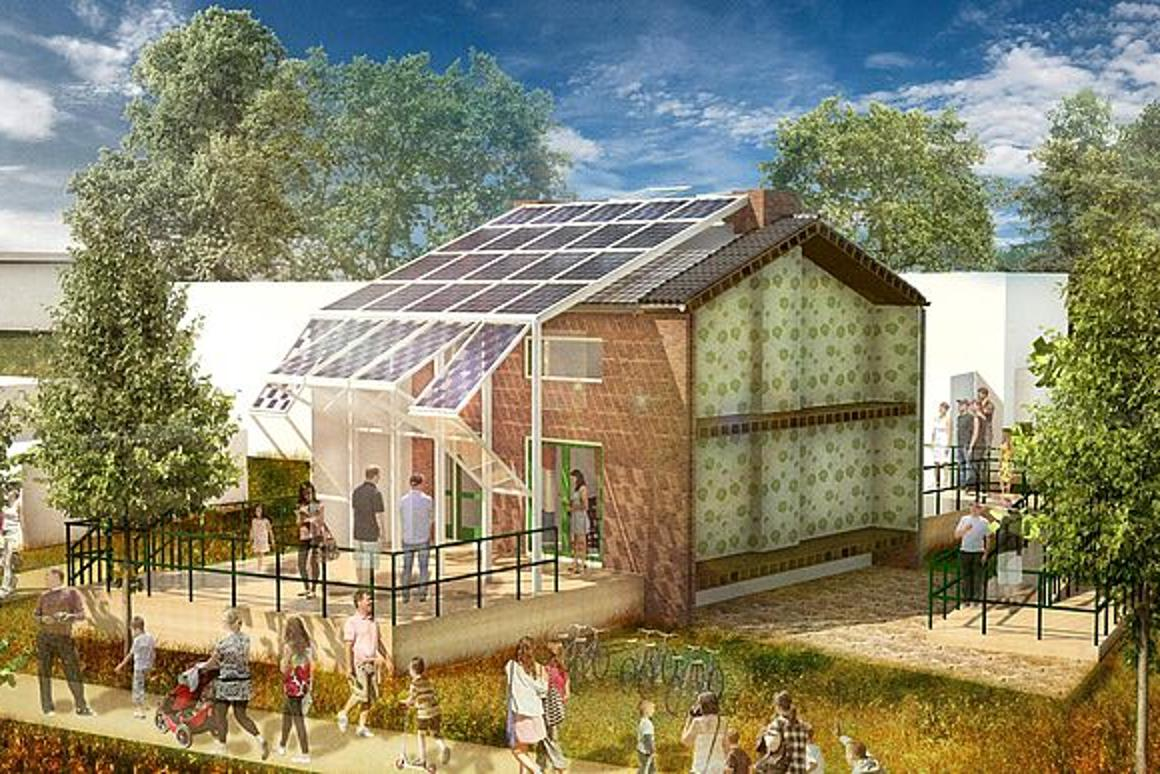 A team of the university's students has developed a concept for a solar-powered skin to be fitted to the typical Dutch home, better aligning its energy usage with 21st century power demands