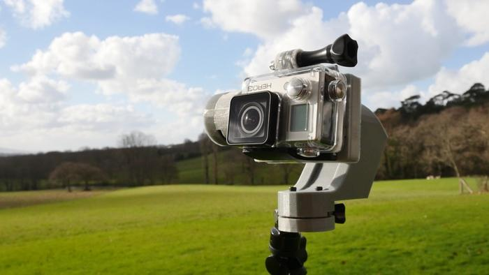 The StabCam stabilizer works with GoPro mounts
