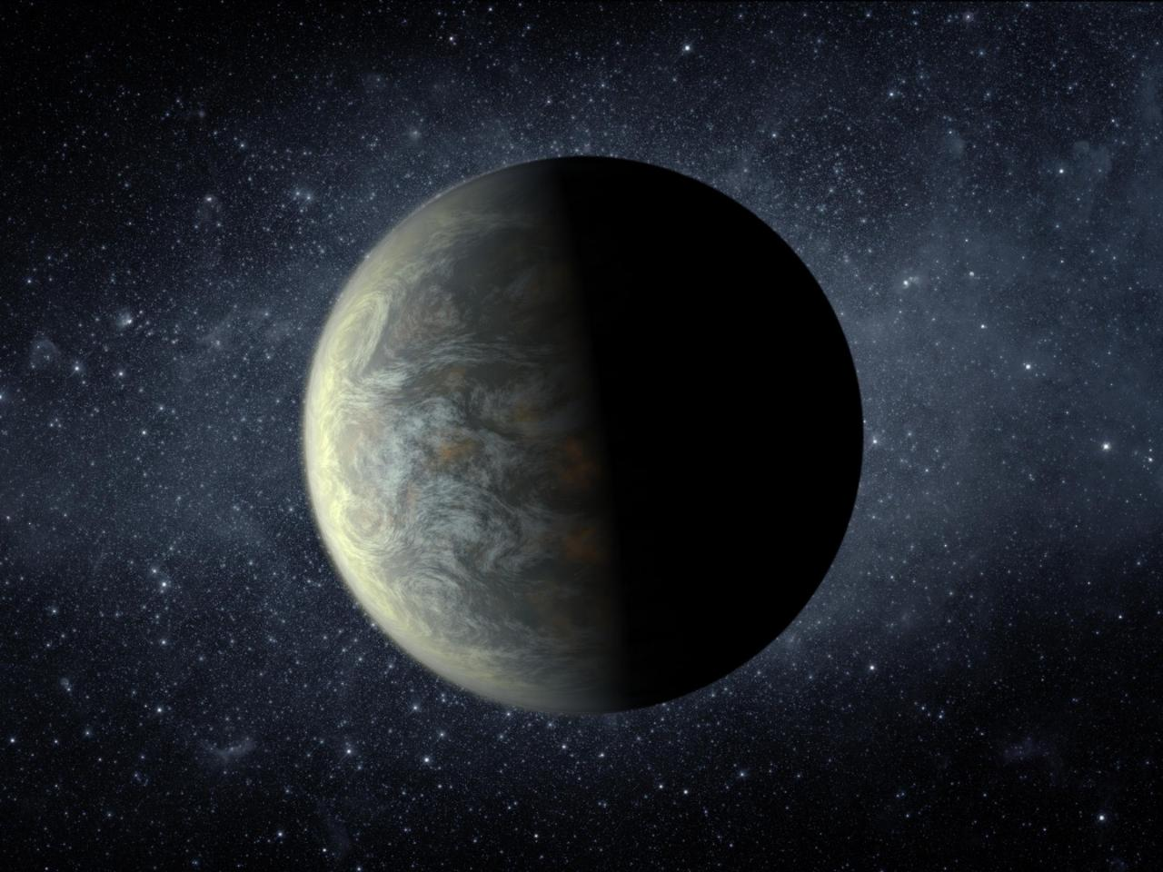 An artist's impression of an Earth-sized exoplanet