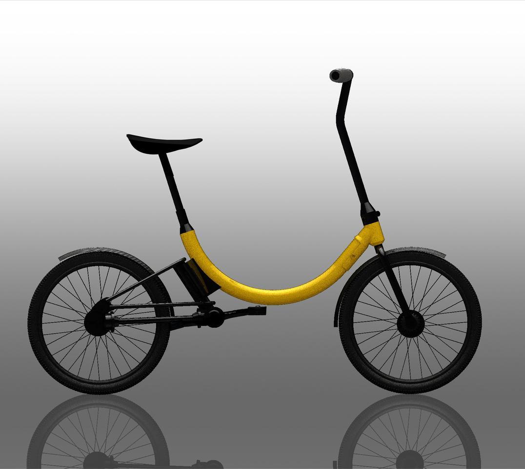Render of the folding e-bike