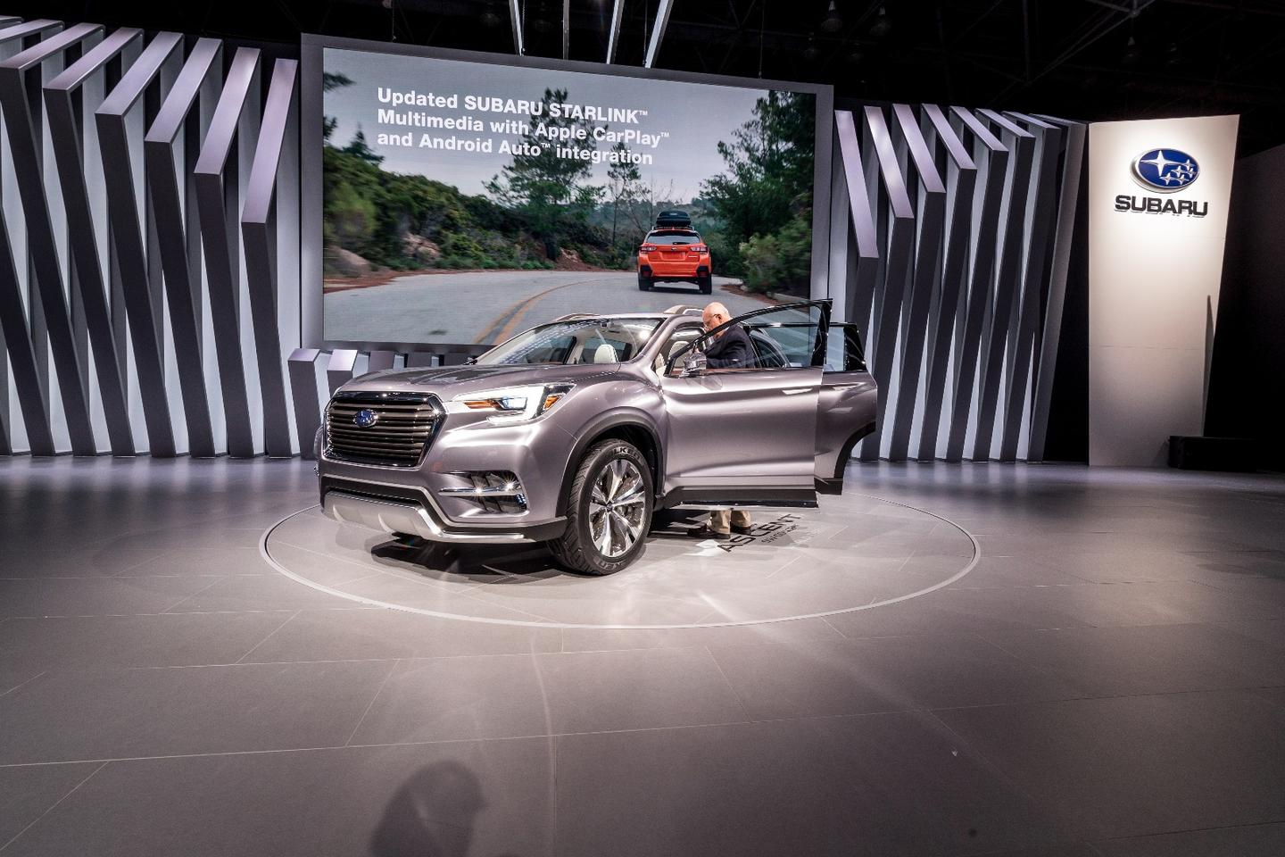 The Subaru Ascent on show in New York