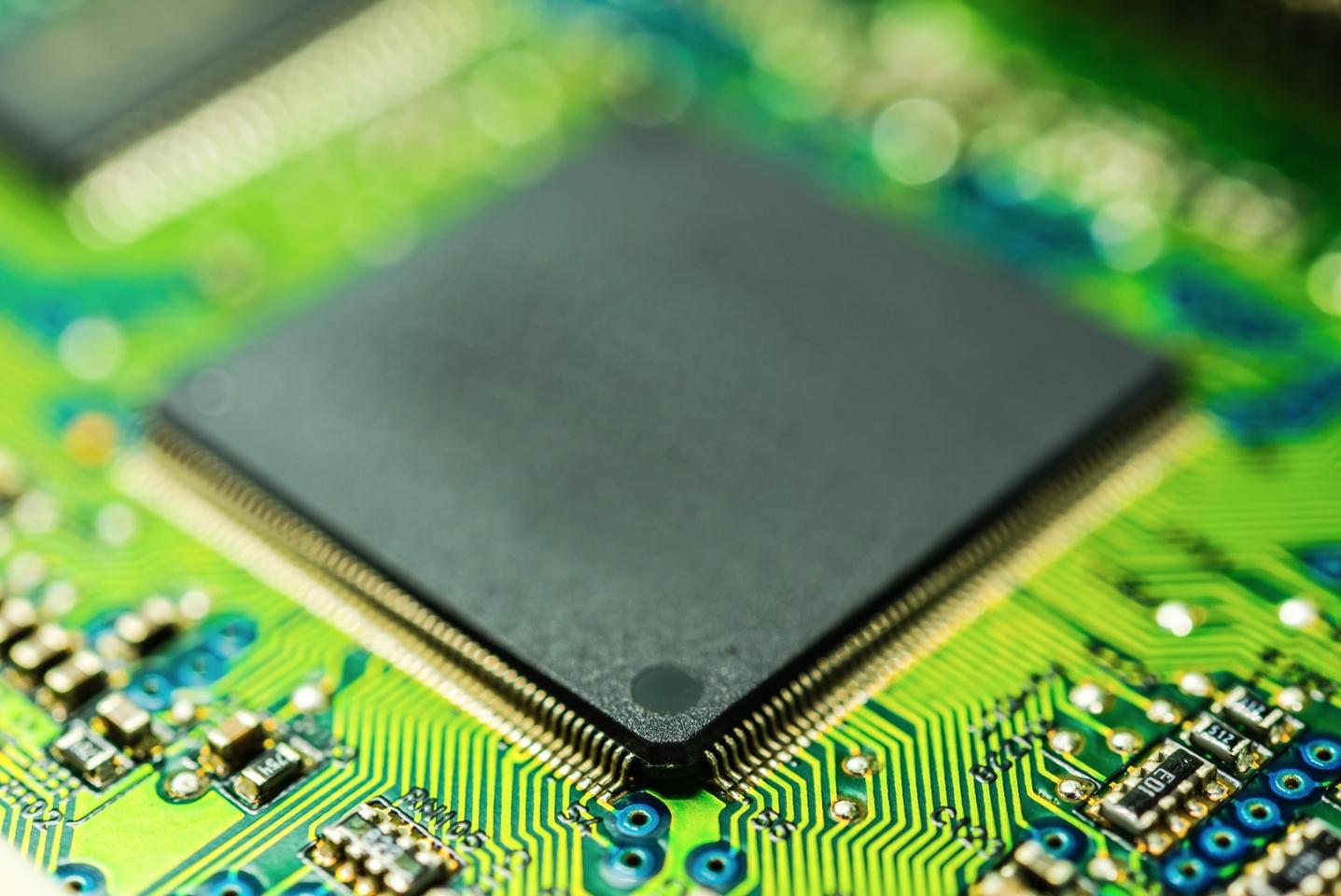 Researchers in Singapore and Germany have developed a chip that can not only process data, like the one above, but can also act as memory storage
