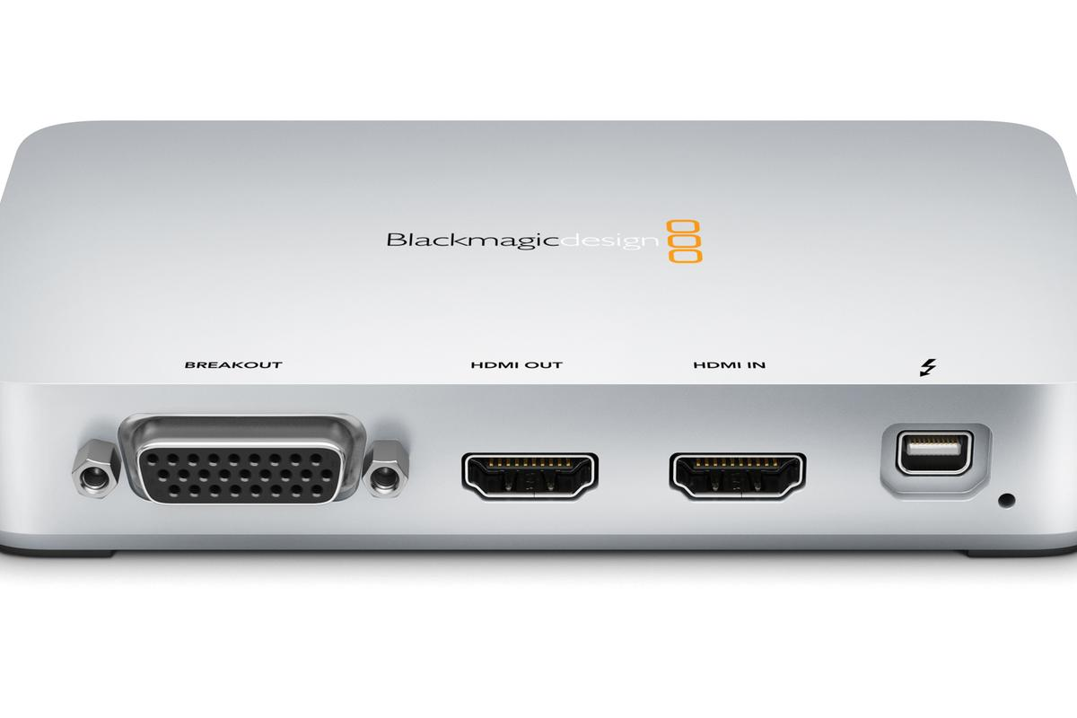 The Thunderbolt port-packing Intensity Extreme video capture device from Blackmagic Design