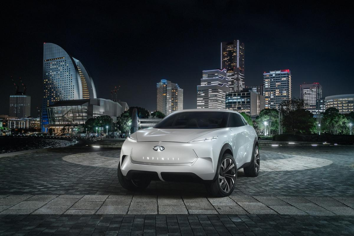 The QX Inspiration is a design study showing what kind of visual language we can expect to see from future Infiniti electric performance SUVs