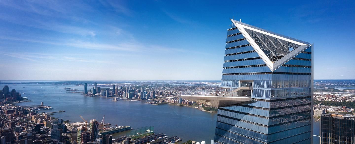 NYC's 30 Hudson Yards, by KPF, is the tallest building in the United States to be completed in 2019 and rises to a height of 387 m (1270 ft)