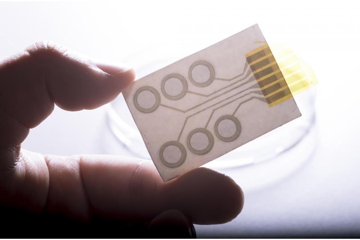 The electrodes can be printed in single or multiple arrangements