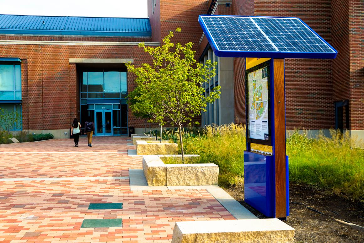 The EnGo charging station at Webster University