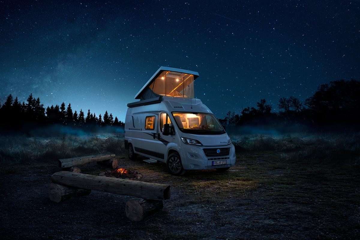 The new pop-up roof from Knaus Tabbert offers bigger views and more ventilation than the average camper van pop-top