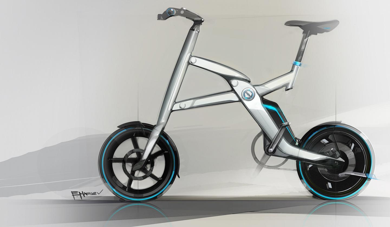 Design sketch of the BMW i Pedelec pedal-electric bike