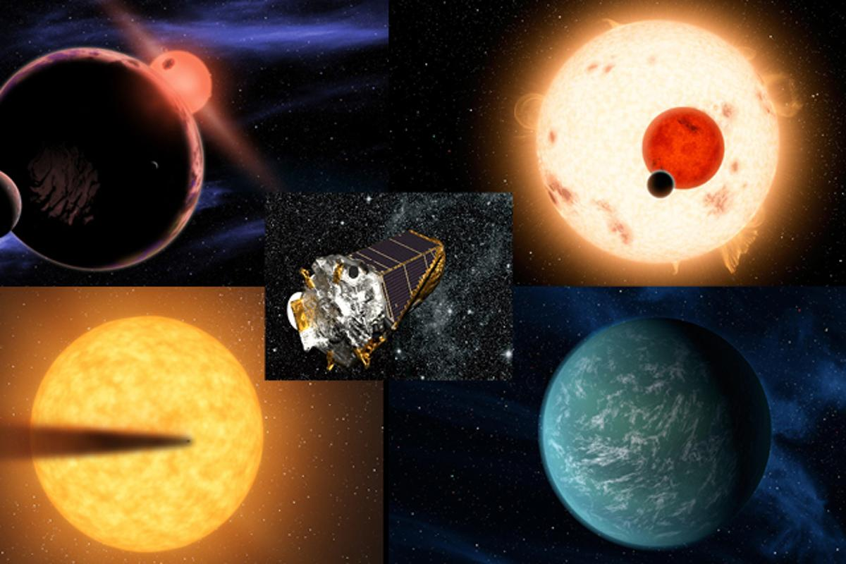 """""""Kepler has produced results needed to take the next big step forward in humankind's search for life in our galaxy"""" – William Borucki, Kepler principal investigator at NASA's Ames Research Center (Image credits: NASA, Ames/R. Hurt/JPL-Caltech, D. Aguilar/Harvard-Smithsonian Center for Astrophysics, Lynette Cook/extrasolar.spaceart.org)"""