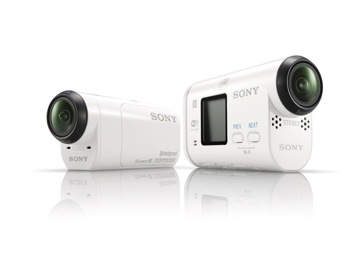 The Action Cam Mini (left) alongside the existing AS100 model Action Cam