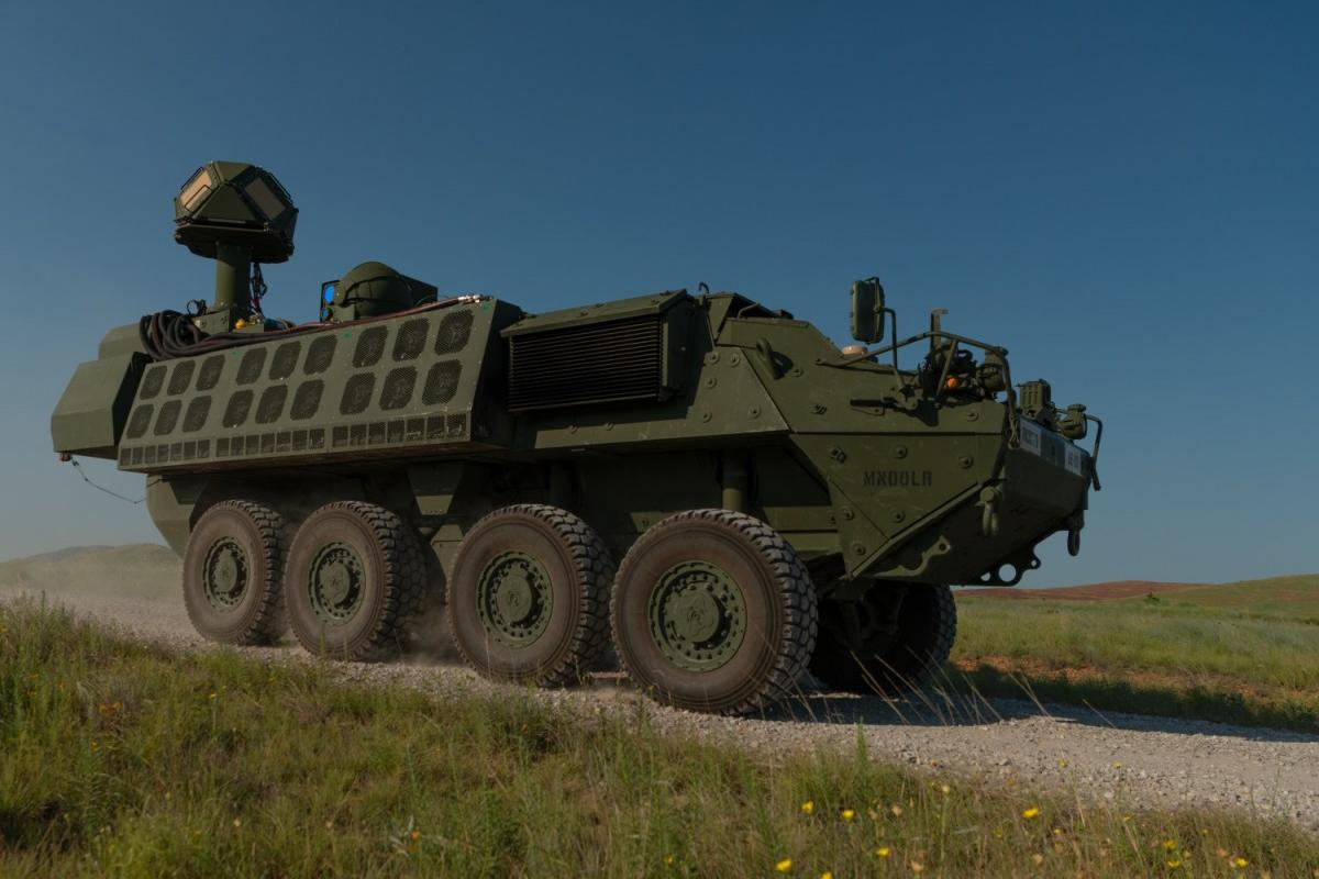 The laser weapon was installed in a Stryker combat vehicle