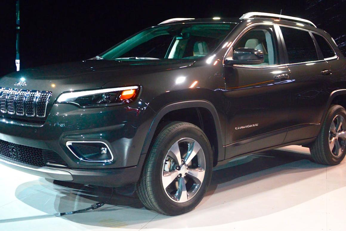 The 2019 Jeep Cherokee features a reimagined fascia with LED fog lamps