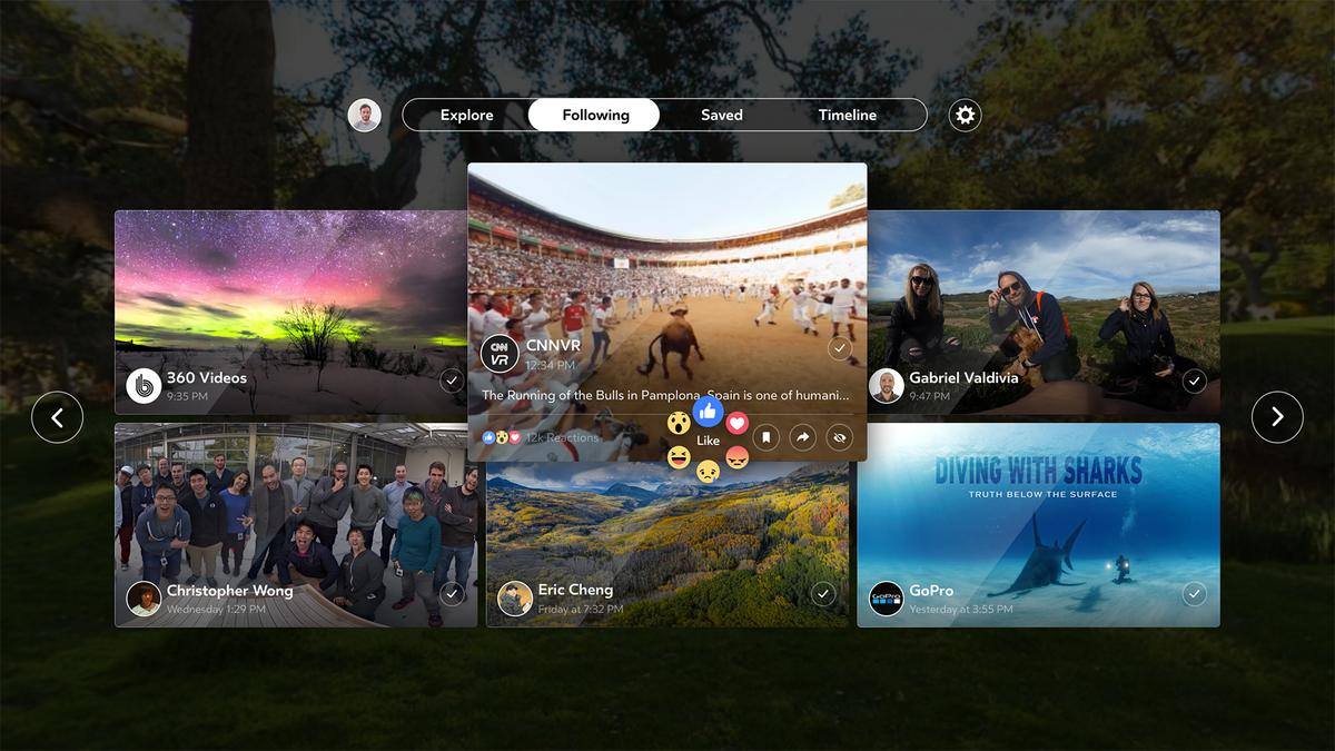 Facebook announced its 360° video app has landed on theSamsung Gear VR