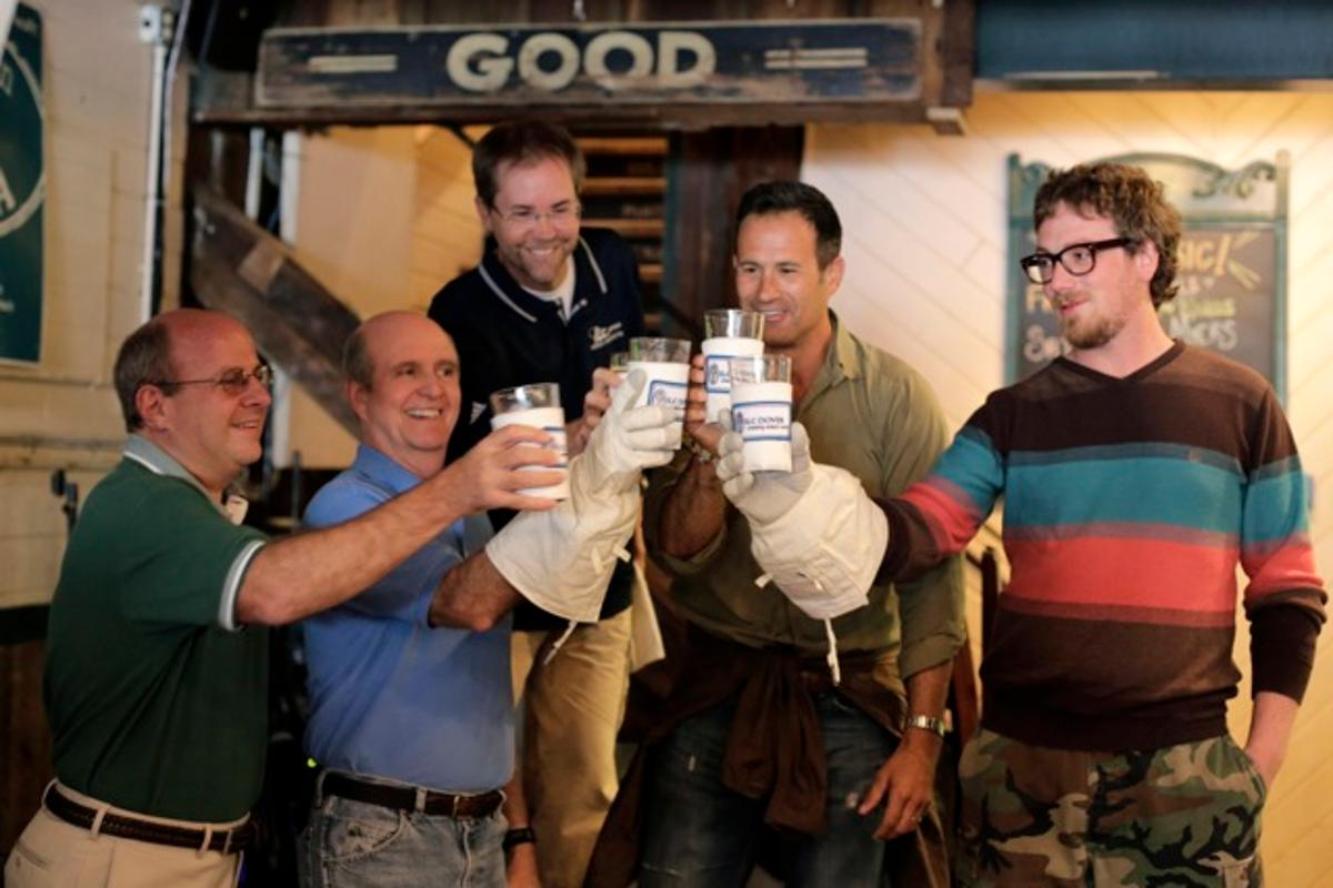 Staff from Dogfish Head and ILC Dover with their lunar brew
