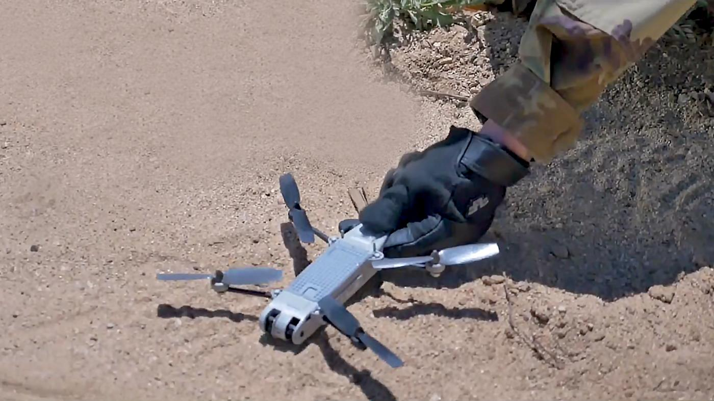 The Snipe Nano Quad UAS weighs just 140 grams