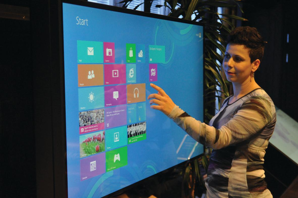 MultiTouch Ltd has released 42- and 55-inch MultiTaction display cells fully integrated with Windows 8