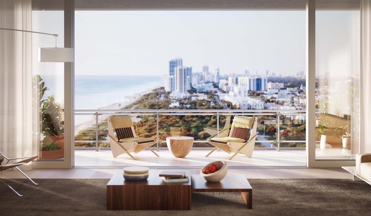 Generous balconies will offer choice views of the Atlantic Ocean and the surrounding city