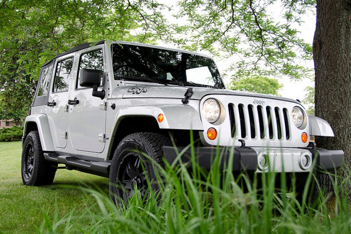 The Jeep Wrangler Sahara reference vehicle does a vanity shot