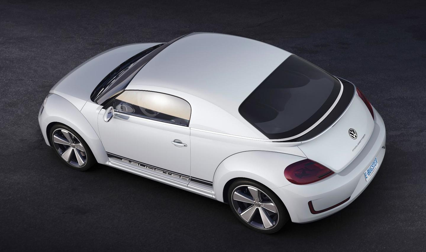 Volkswagen's E-Bugster concept from above