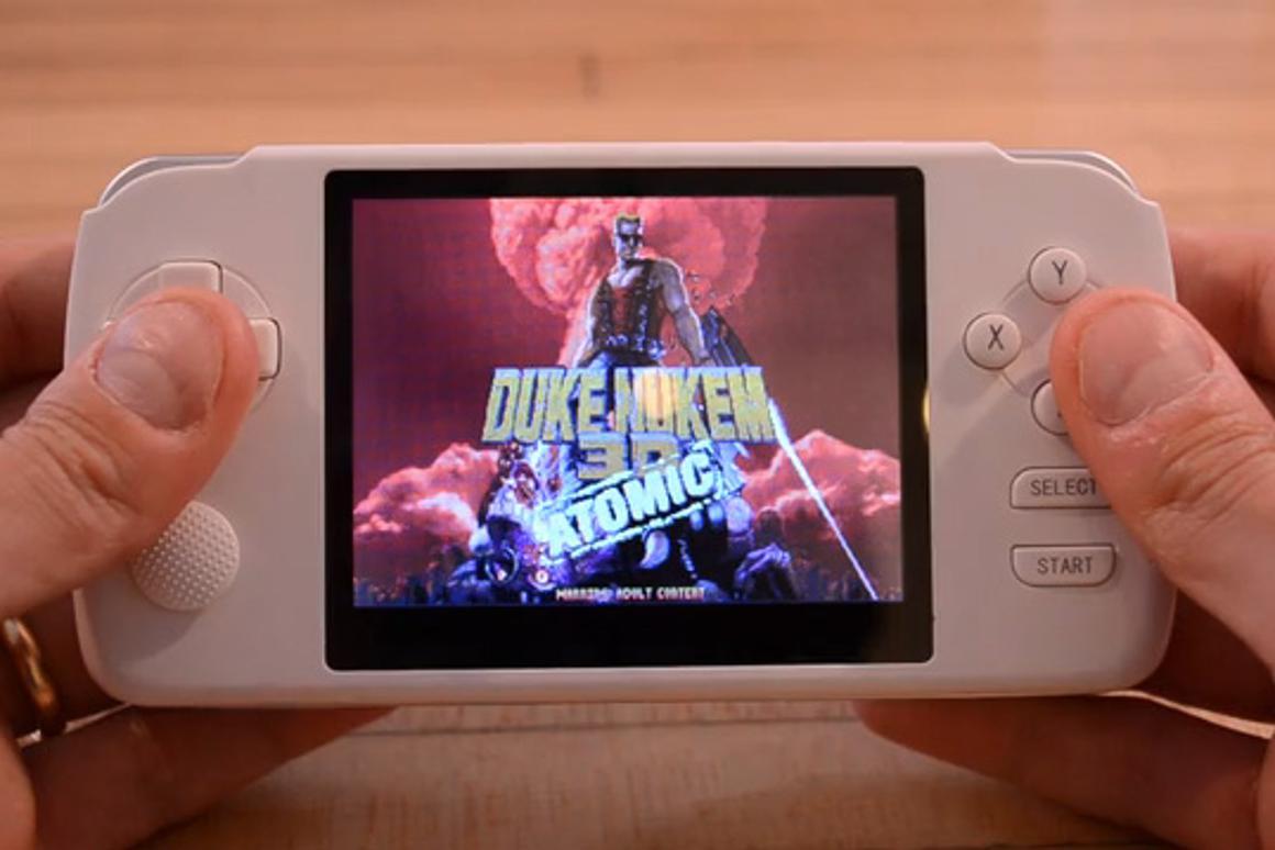 Duke Nukem 3D played on the GCW Zero