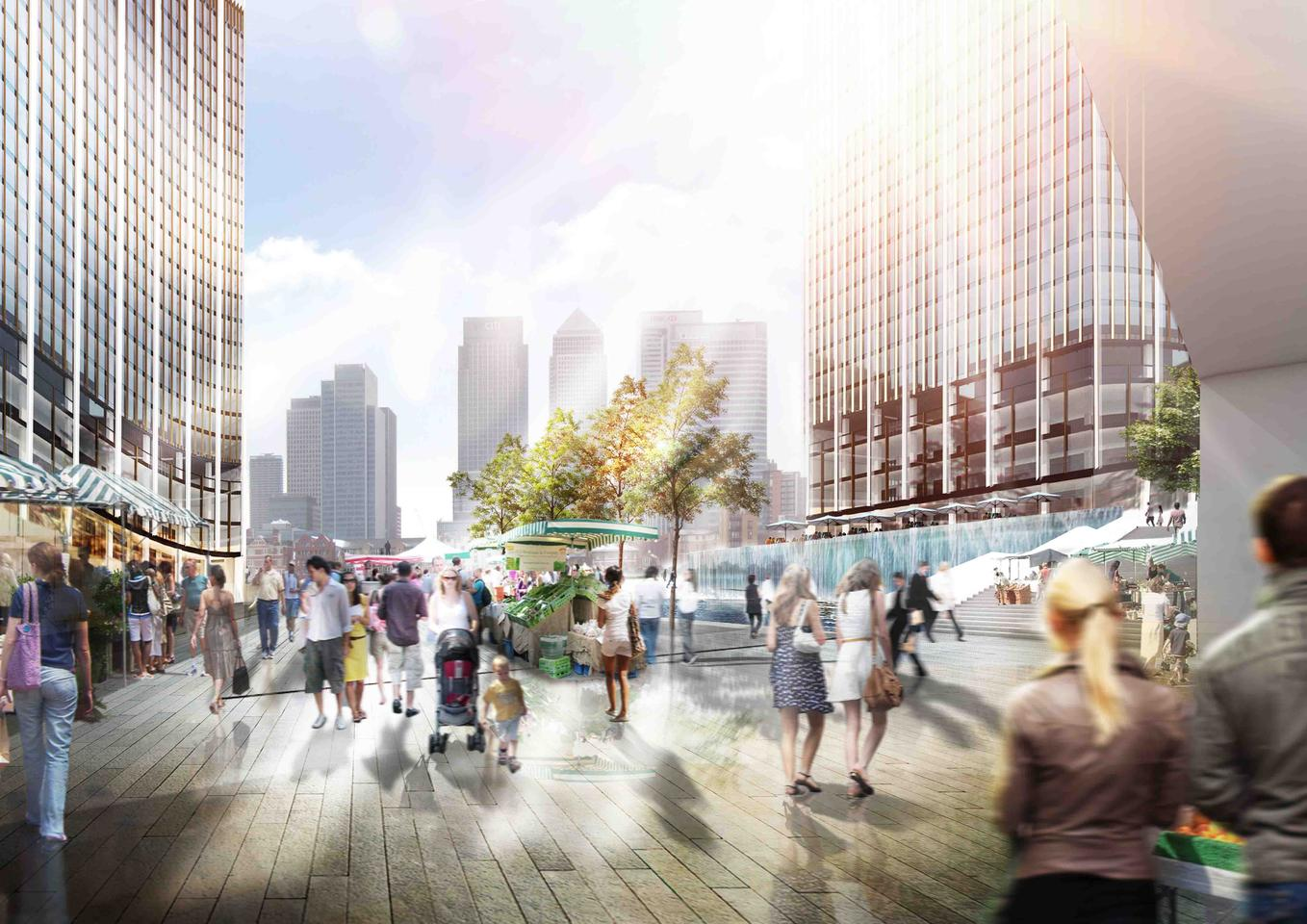 NBBJ is exploring the possibility of using a custom algorithm to help reduce shadows on the ground from new tall buildings by 60 percent (Image: NBBJ)