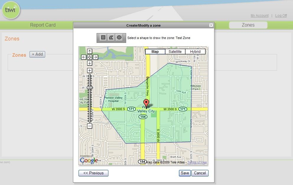 A tiwi SmartZone map