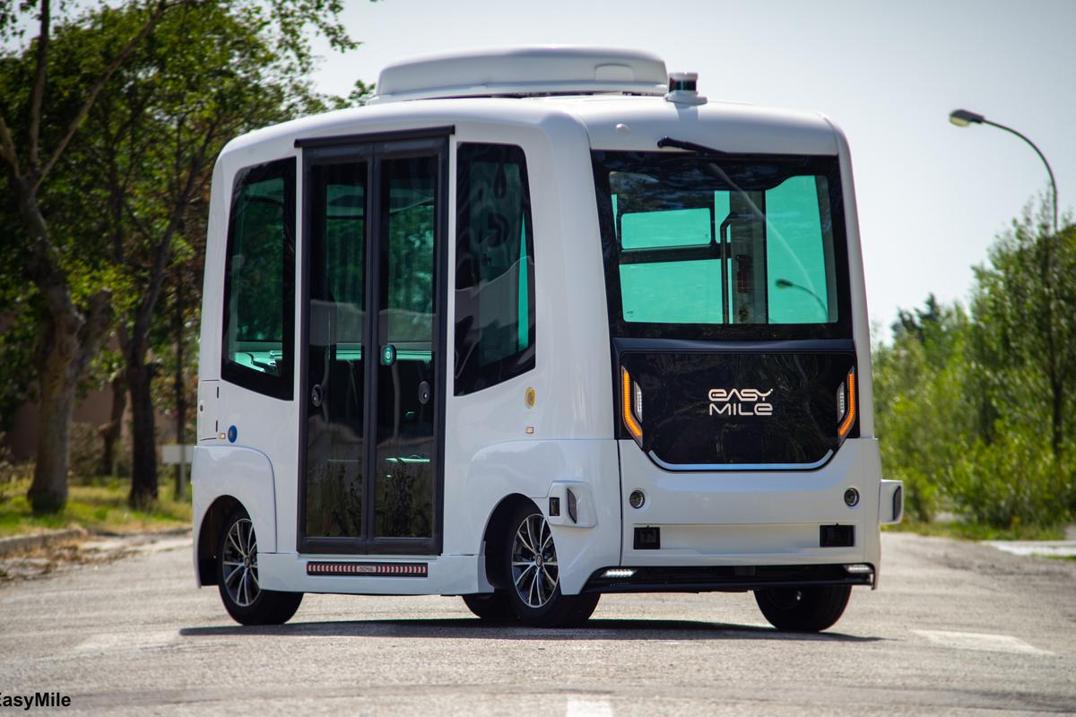 The EZ10 driverless shuttle has been selected to prototype the integration of solar cells