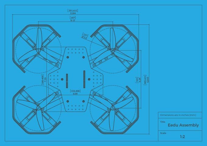 A CAD drawing showing off the Eedu design