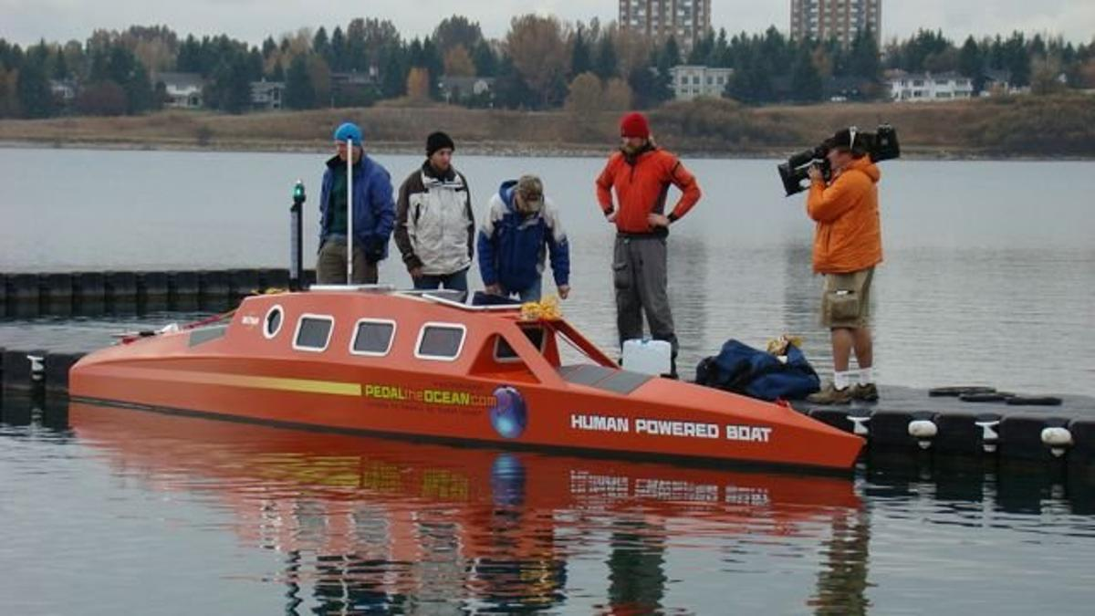 Greg Kolodziejzyk's pedal-powered boat, WiTHiN
