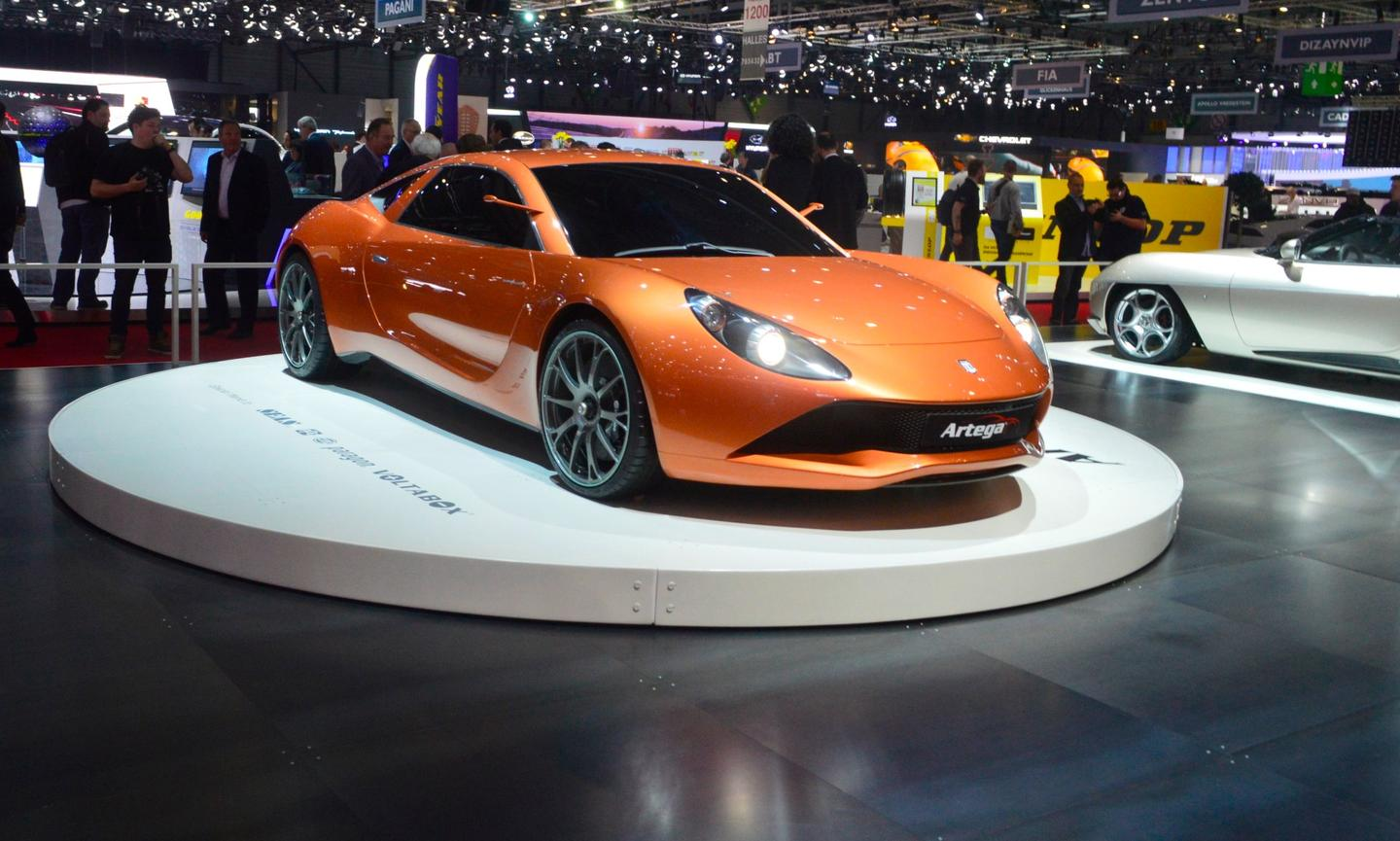 The Artega Scalo Supelletra debuts at Touring Superleggera's Geneva booth