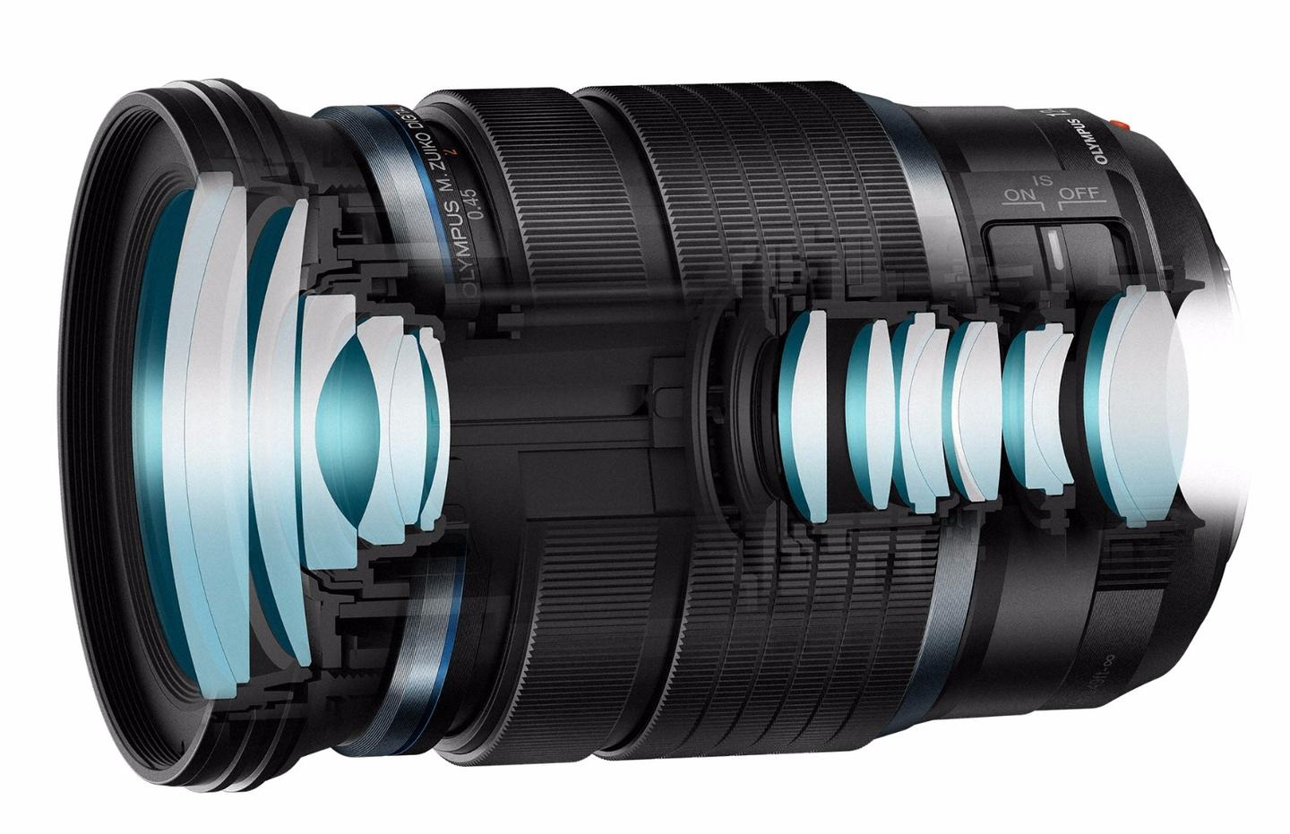 The advanced design of the 12-100 mm lens is like having two separate zoom lenses in one