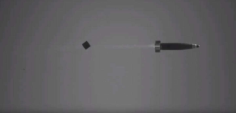 The Excalibur S in flight