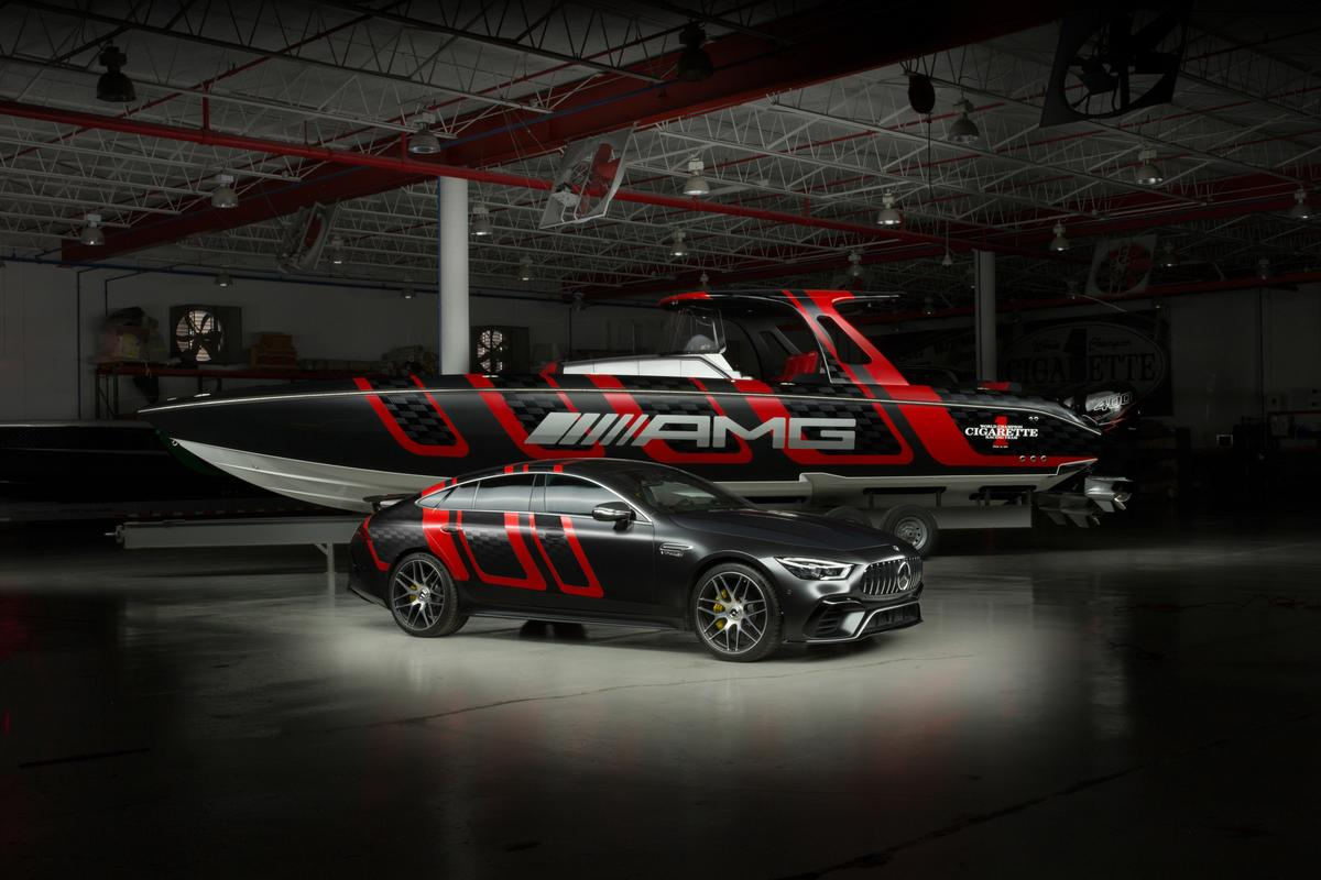 Cigarette Racing has been designing boats inspired by AMG cars for more than a decade now