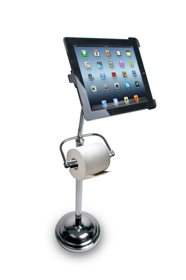 The Pedestal Stand for iPad means your tablet will always have a comfortable home in the bathroom
