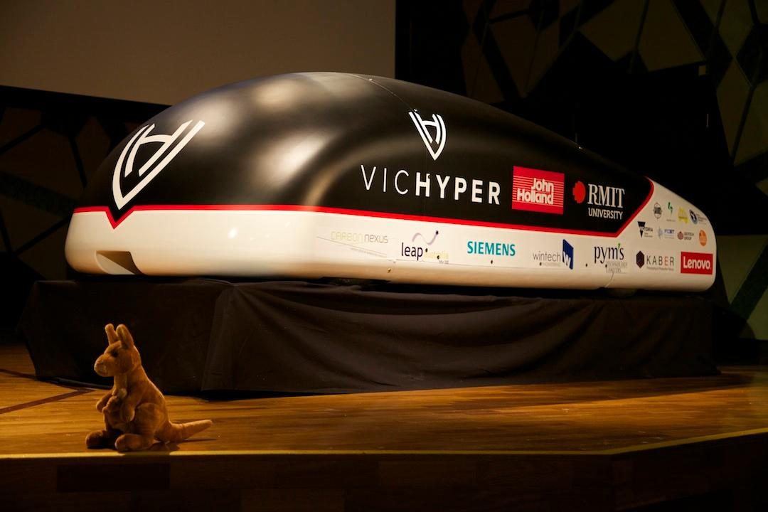 The VicHyper pod is designed with a unique braking system, which won the team the Braking SubsystemTechnical Excellence Award from SpaceX in January this year