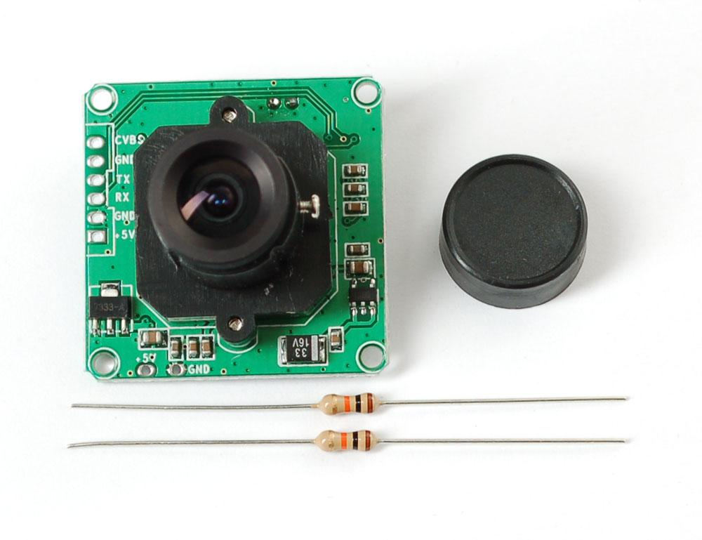 The recommended camera outputs video, from which stills are then logged and shared (Photo: Adafruit)