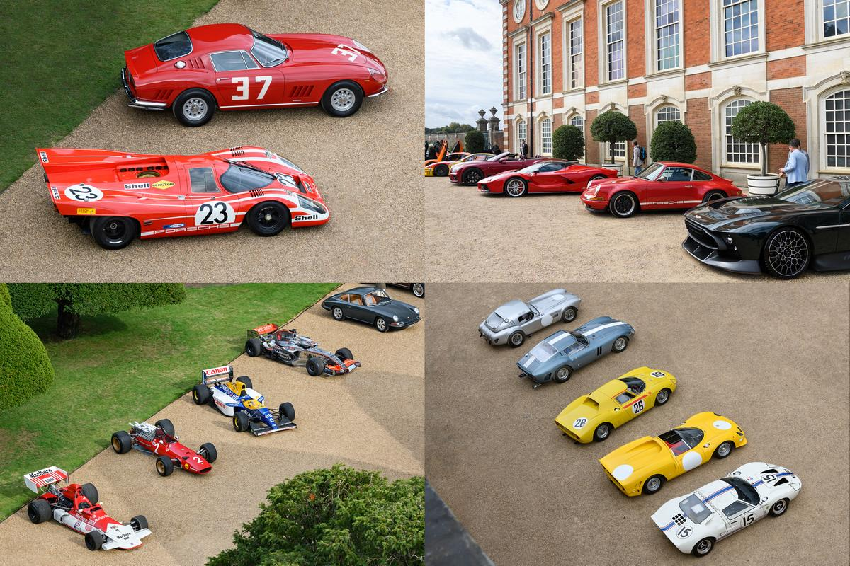 The 60 entrants in the 2020 Concours of Elegance looking completely at home in the former residence of Henry VIII