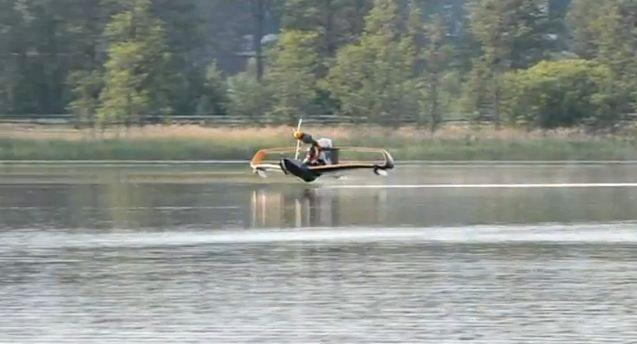 FlyNano has posted video of its electric microlight aircraft's first test flight