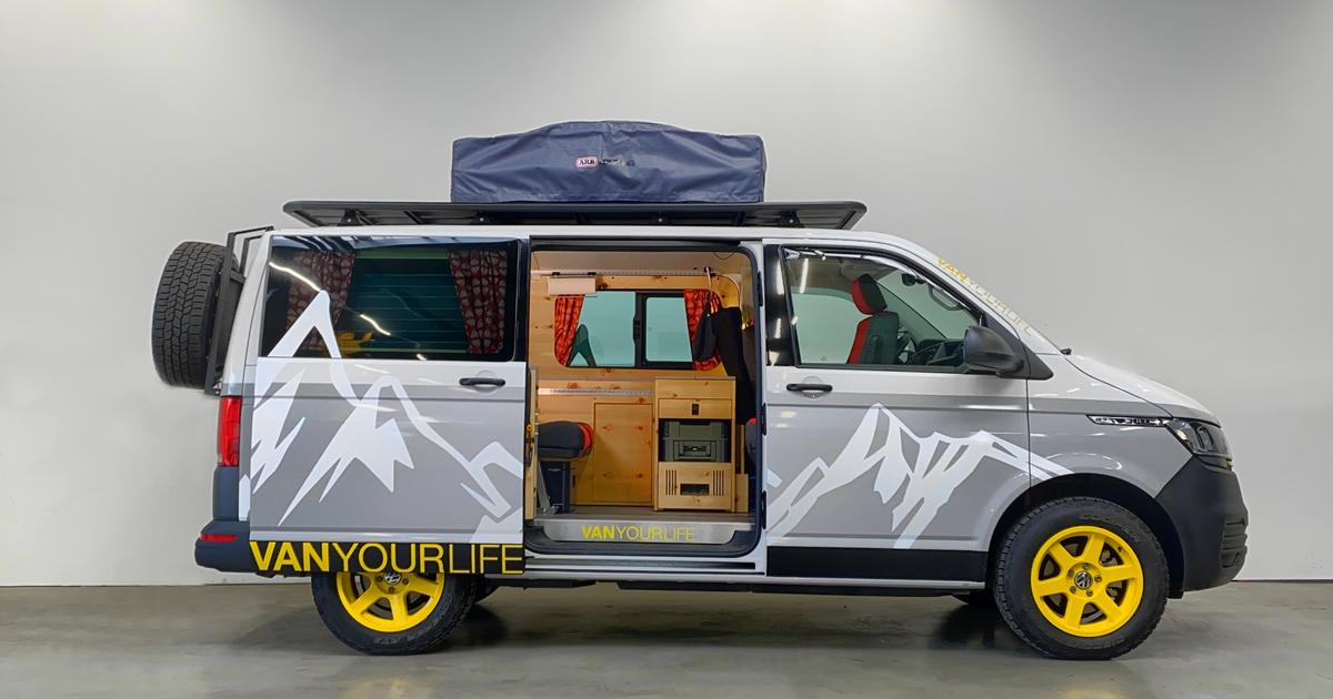 Flowcamper spruces up the VW camper van with mountain lodge flair