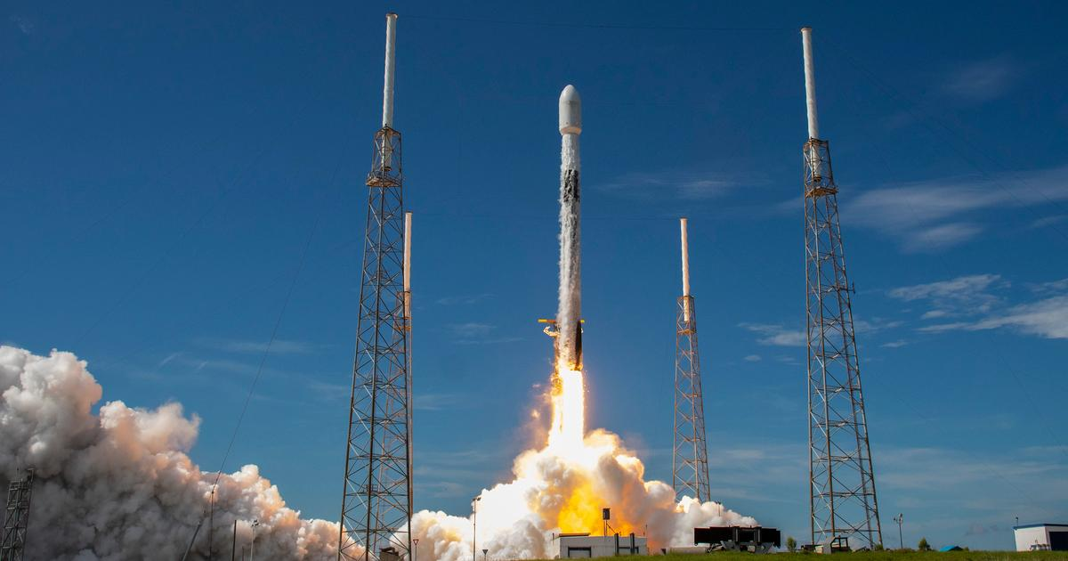 SpaceX sends up the same recycled rocket for a record sixth time