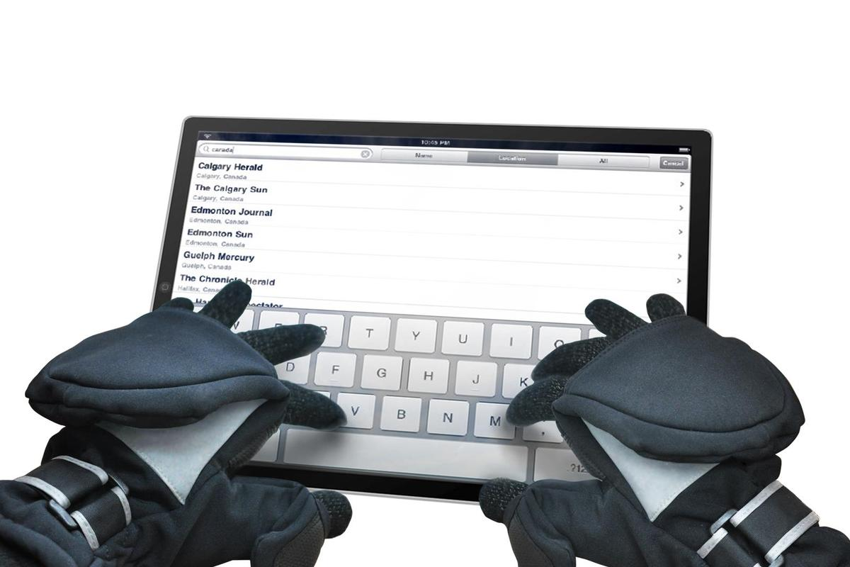 ISGLOVES are mittens with ends that fold back, to expose conductive inner gloves that can be used with capacitive touchscreen devices